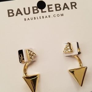 NWT Baublebar jacket earrings